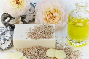 soap, rose, oil